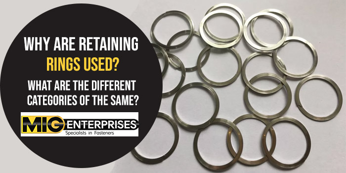 Why are retaining rings types
