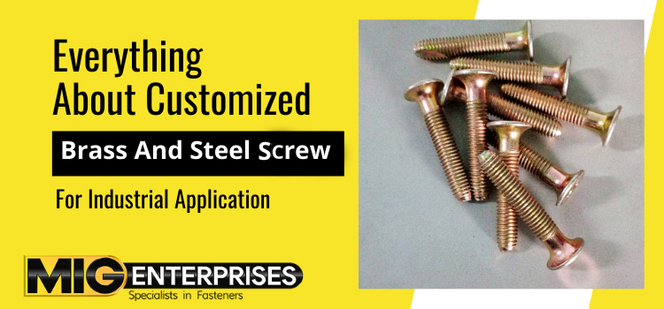 Everything about customized brass and steel Screw for industrial application